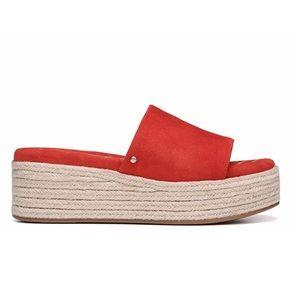 Sam Edelman Weslee Red Platform Slide Sandal